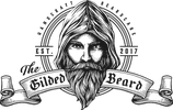 Gilded beard logo representing Kate Avalon Day Spa & Salon